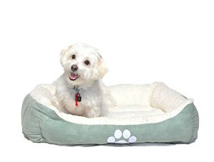 long rich HCT-REC-007 Rectangle Reversible Pet Beds,Turquoise, Medicum Size, by Happycare Textiles