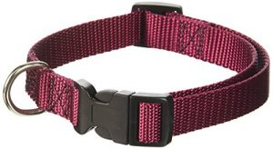 14in   20in Adjustable Collar Burgundy, 40   120 lbs Dog By Majestic Pet Products