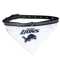 NFL BANDANA – DETROIT LIONS PET BANDANA with Reflective & Adjustable PET COLLAR, Small
