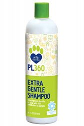 PL360 Extra Gentle Dog Shampoo Sulfate Free Hypoallergenic, Fragrance Free, 16 Ounces