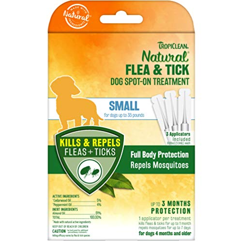 TropiClean Flea and Tick Spot On Treatment for Small Dogs