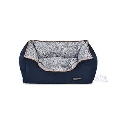 AmazonBasics Cuddler Pet Bed – Small, Floral Print