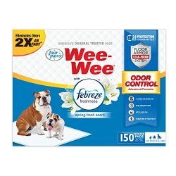 Wee Puppy Pee Pads for Dogs | 150Count | Puppy Training Pads for Dogs | Odor Control with Febreze