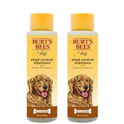 Burt's Bees for Dogs Natural Shed Control Shampoo with Omega 3s and Vitamin E   Puppy and Dog Shampoo, 16 Ounces – 2 Pack