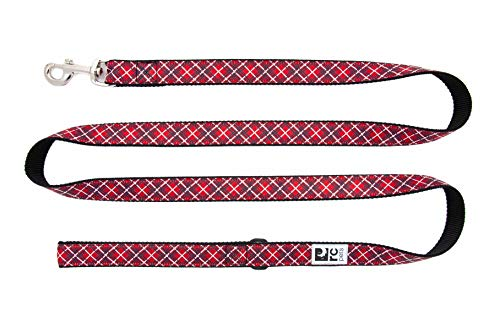 RC Pet Products 1″ x 6′ Dog Leash, Red Tartan