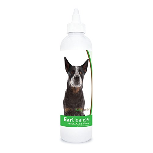 Healthy Breeds Dog Ear Cleaning Rinse with Aloe for Australian Cattle Dog – Over 200 Breeds – Veterinarian Formulated – Help with Itching & Scratching – 4 oz