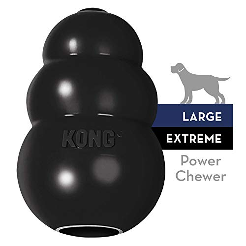 KONG – Extreme Dog Toy – Toughest Natural Rubber, Black – Fun to Chew, Chase and Fetch – For Large Dogs