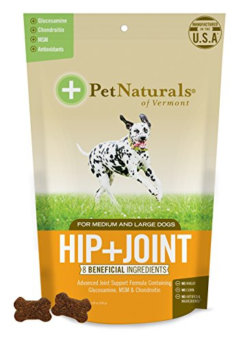 Pet Naturals of Vermont – Hip + Joint, Joint Supplement for Medium & Large Dogs, 60 Bite-Sized Chews