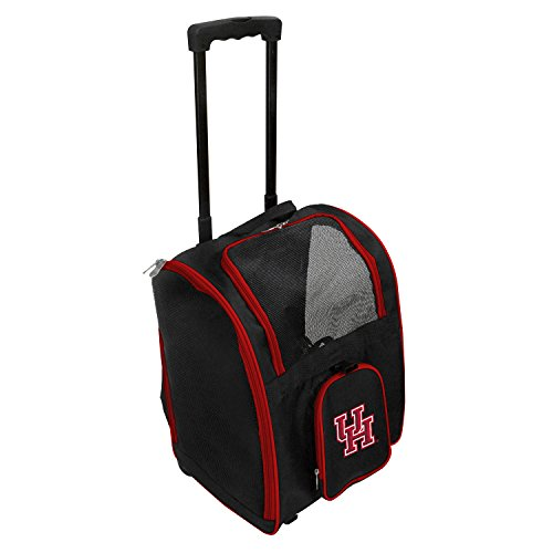 Denco NCAA Houston Cougars Premium Wheeled Pet Carrier