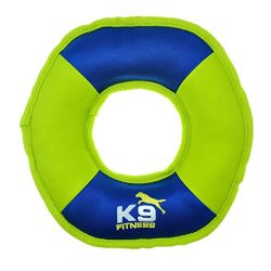K9 Fitness Dog Toys by Zeus Tough Nylon Discus, Tough Nylon Construction Built for Chewers (Color May Vary)