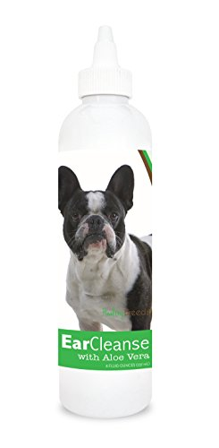 Healthy Breeds Dog Ear Cleansing Drops for French Bulldog – OVER 200 BREEDS – Vet Recommended Formula – Easier Than Wipes & Pads – Cucumber Melon 8 oz