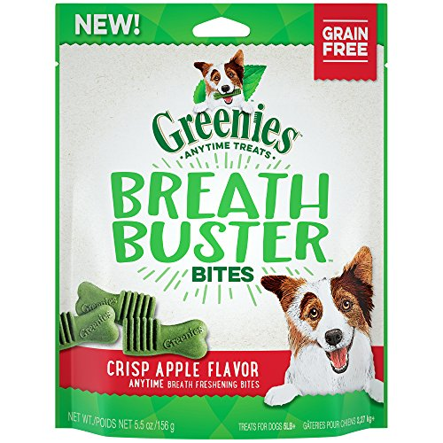GREENIES BREATH BUSTER Bites Crisp Apple Flavor Treats for Dogs 5.5 Ounces