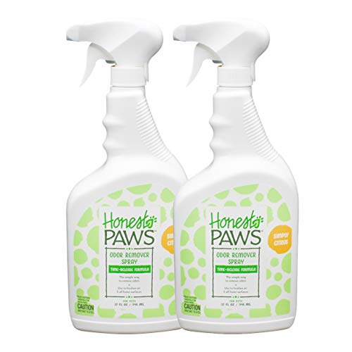 Honest Paws Time-Release Odor Eliminator Spray, Pack of 2 | Grapefruit Scented Pet Odor Eliminator, Non-Toxic and Safe