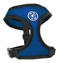 Gooby Soft Breathable Large Mesh Dog Harness – Blue