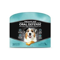 FRONTLINE Oral Defense Daily Dental Chews for Medium Dogs (25-50 pounds) 28-Ct