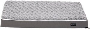AmazonBasics Ergonomic Foam Pet Dog Bed – 30 x 20 Inches, Grey