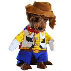 Woody Dog Costume – Toy Story Pet Costume, Cute Cowboy Dog Costume Halloween Dog Cosplay Costume Fashion Dress for Puppy Small Medium Large Dogs Special Events Funny Photo Props Accessories