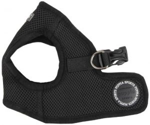 Puppia Soft Vest Dog Harness – Black – Medium