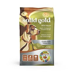 Solid Gold – Wild Heart with Natural Quail, Chickpea & Pumpkin – Grain Free & Gluten Free – Probiotic Support for Sensitive Stomachs – Holistic Dry Dog Food For Adult Dogs – 24lb Bag