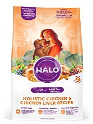 Halo Natural Dry Dog Food, Chicken & Chicken Liver Recipe, 14-Pound Bag