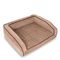 BuddyRest, Crown Supreme, Medium Memory Foam dog bed, Cutting Edge True Cool Memory Foam,  Scientifically Calibrated To Promote Joint Health, Handmade in the USA, Iced Mocha