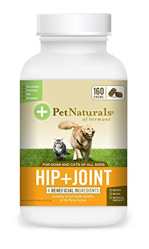 Pet Naturals of Vermont – Hip + Joint for Dogs and Cats, 160 Bite-Sized Chews