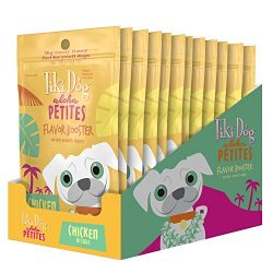 Tiki Dog Aloha Petites Chicken Flavor Booster Bisque Pouches – Grain Free Dog Food Flavor Booster – 1.5 oz (12 Pack)