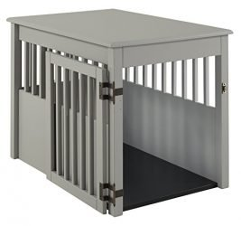 BarkWood Large Pet Crate End Table – Grey Finish