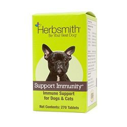 Herbsmith Support Immunity – Canine and Feline Immune Support – Helps Maintain Respiratory Health for Dogs and Cats – Natural Immune System Support – 270 Tablets