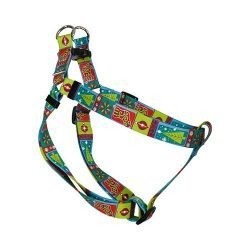 Yellow Dog Design Step-In Harness, Small, Retro Christmas
