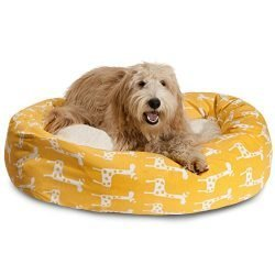 Majestic Pet 24″ Stretch Yellow Sherpa Bagel Bed