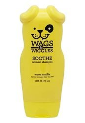 Wags & Wiggles Soothe Oatmeal Dog Shampoo in Warm Vanilla | Oatmeal Dog Shampoo for Itchy Skin | Dog Supplies, 16 Ounces