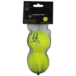 Hyper Pet Pet Tennis Balls for Dogs, Pet Safe Dog Toys for Exercise and Training, Pack of 2, Green