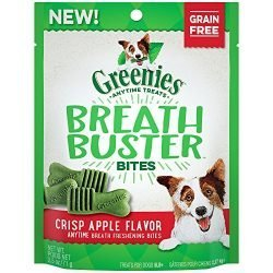 GREENIES BREATH BUSTER Bites Crisp Apple Flavor Treats for Dogs 2.5 Ounces
