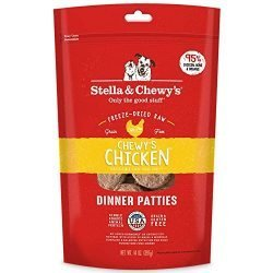 Stella & Chewy's Freeze-Dried Raw Chewy's Chicken Dinner Patties Grain-Free Dog Food, 14 oz bag
