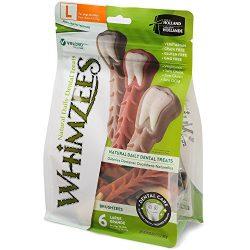 Whimzees Natural Grain Free Dental Dog Treats, Large Brushzees, Bag Of 6