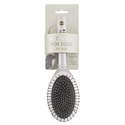 BioSilk for Dogs Pin Brush | Removes Mats, Tangles & Loose Hair with Minimal Effort & Comfort | Suitable for Long or Short Hair