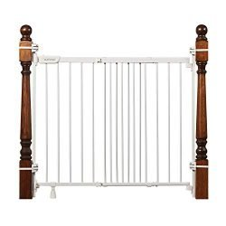 Summer Infant 27903Z Banister & Stair Safety Gate with Extra Wide Door, Metal, 31″ – 46″, White, 31-46″