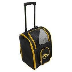 Denco NCAA Iowa Hawkeyes Premium Wheeled Pet Carrier