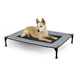 K&H PET PRODUCTS Original Pet Cot, Gray/Mesh, Large/30″ x 42″ x 7″