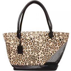 Pet Gear Tote Bag Carrier for Cats/Dogs, Storage Pocket, Removable Washable Liner, Zippered Top and Mesh Windows, Jaguar