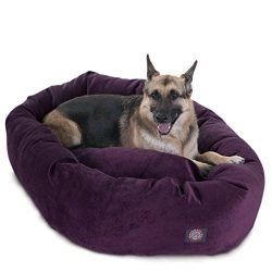 52 inch Aubergine Villa Collection Micro Velvet Bagel Dog Bed By Majestic Pet Products