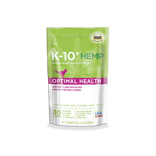 K-10+ Hemp Optimal Health Daily Supplement for Dogs – 4.23 oz. Pouch