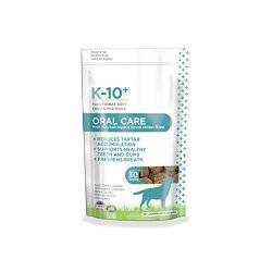 K-10+ Dental Supplement Chews for Dogs, Oral Care Functional Soft Chews for Dogs – 30 ct. Pouch