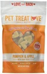 Pet Treat Love PTL-PA Pumpkin Apple Dog Treats (1 Pouch), Large/One Size