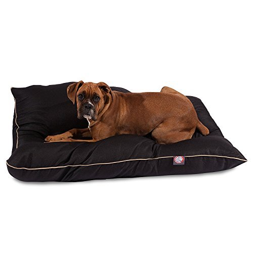 35×46 Black Super Value Pet Dog Bed By Majestic Pet Products Large