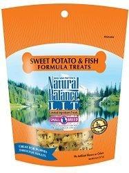 Natural Balance L.I.T. Limited Ingredient Small Breed Dog Treats, Grain Free, Sweet Potato & Fish Formula, 8 oz (Packaging May Vary)