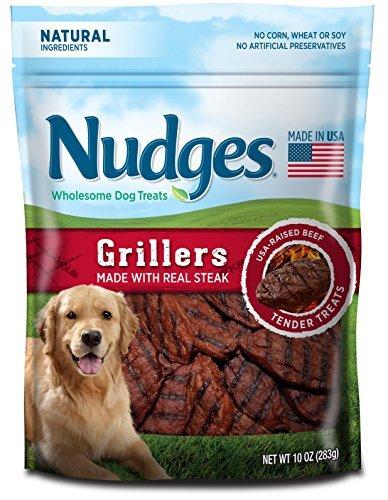 Nudges Steak Grillers Dog Treats, 10 oz