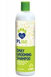 PL360 Daily Grooming Dog Shampoo Sulfate Free, Sweet Aloe, 16 oz