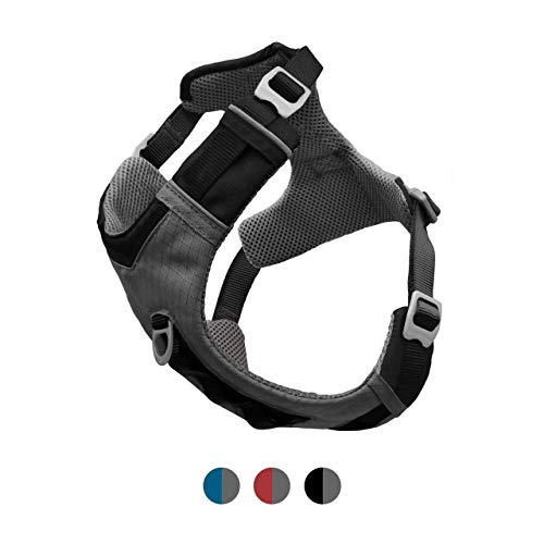 Kurgo Dog Harness for Medium, Small Active Dogs | Pet Hiking Harness for Running & Walking | Everyday Harnesses for Pets | Reflective | Journey Air (Black, Large)